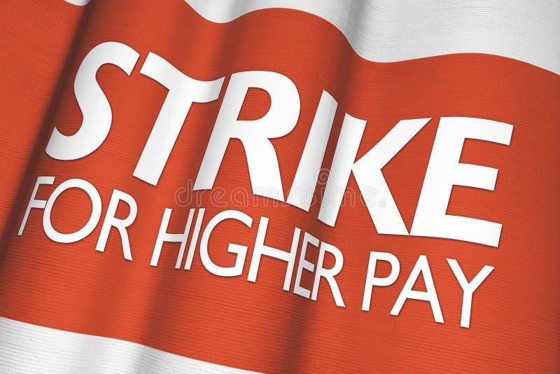 Απεργία για την υψηλότερη αμοιβή διανυσματική απεικόνιση