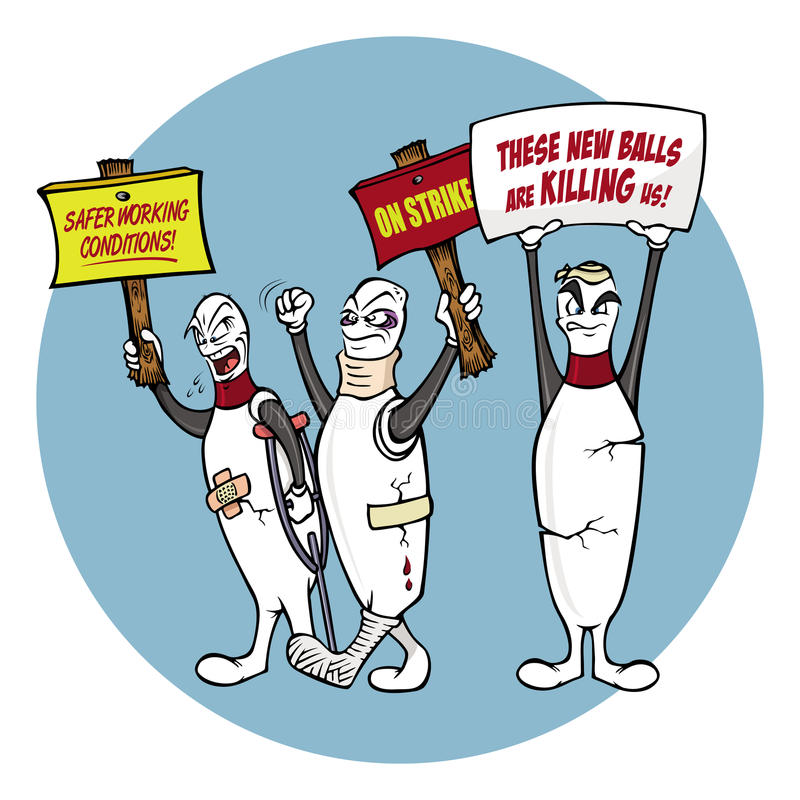 απεργία καρφιτσών μπόουλι ελεύθερη απεικόνιση δικαιώματος