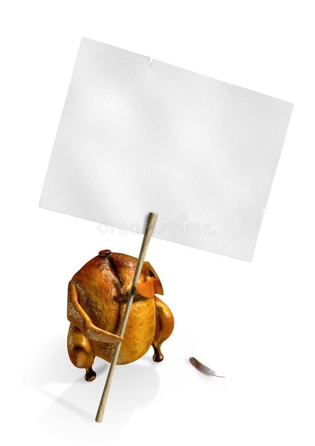 απεργία κοτόπουλου διανυσματική απεικόνιση
