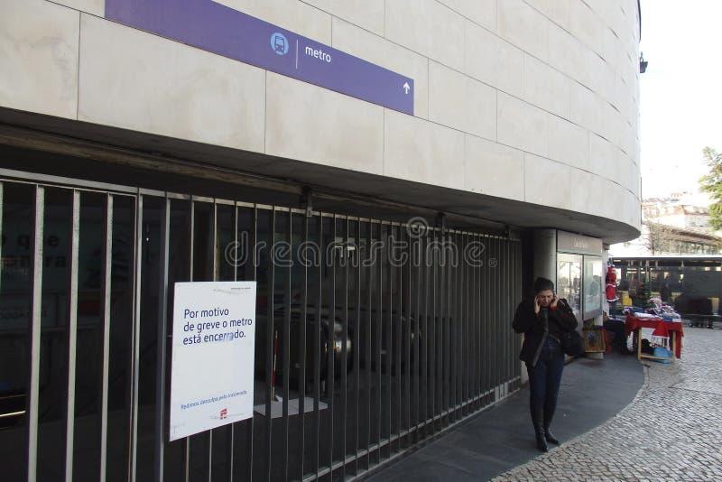 Απεργία μετρό της Λισσαβώνας στοκ εικόνες