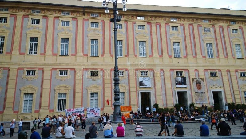 Απεργία σπουδαστών στη Γένοβα στοκ εικόνες με δικαίωμα ελεύθερης χρήσης