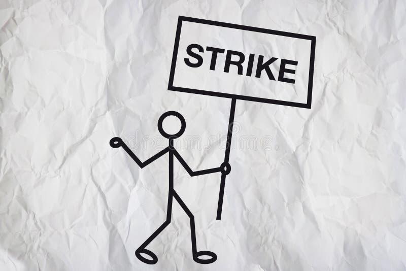 απεργία διανυσματική απεικόνιση