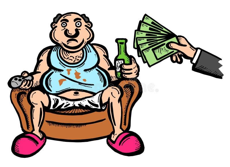 Απεριόριστο βασικό εισόδημα διανυσματική απεικόνιση
