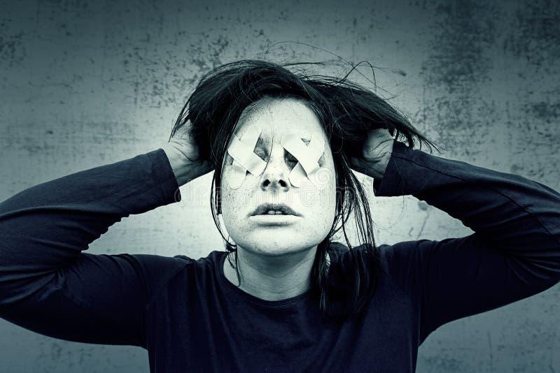 Απελπισία στις γυναίκες στοκ φωτογραφία