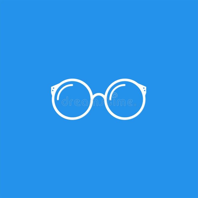 Απλά γυαλιά λογότυπων απεικόνιση αποθεμάτων