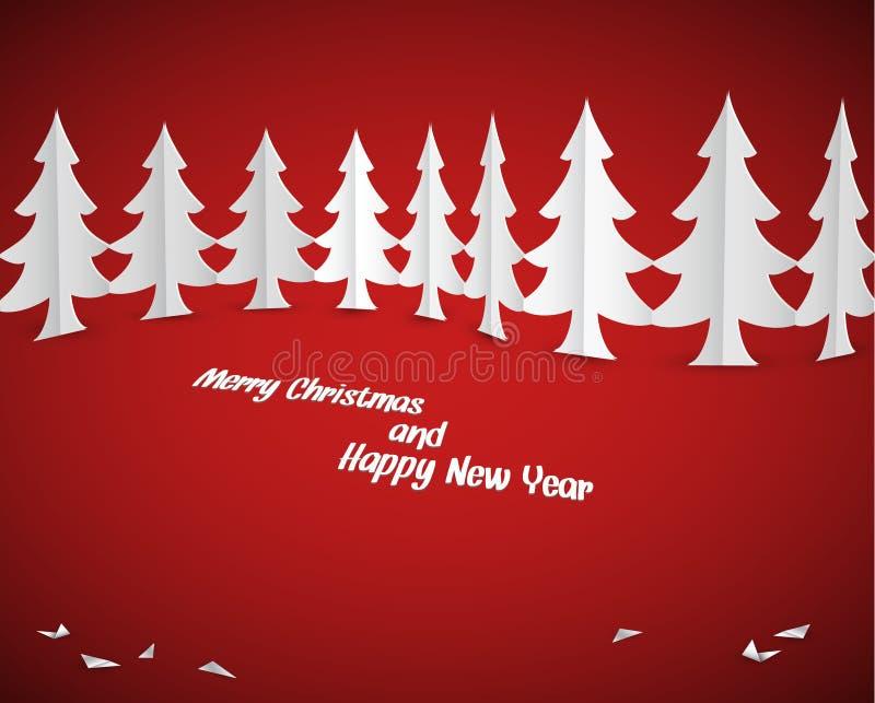 Απλά διανυσματικά δέντρα εγγράφου Χριστουγέννων διανυσματική απεικόνιση