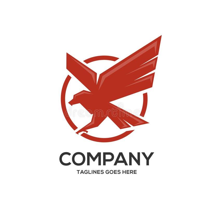 Απλά πρότυπα λογότυπων αετών κύκλων ισχυρά απεικόνιση αποθεμάτων