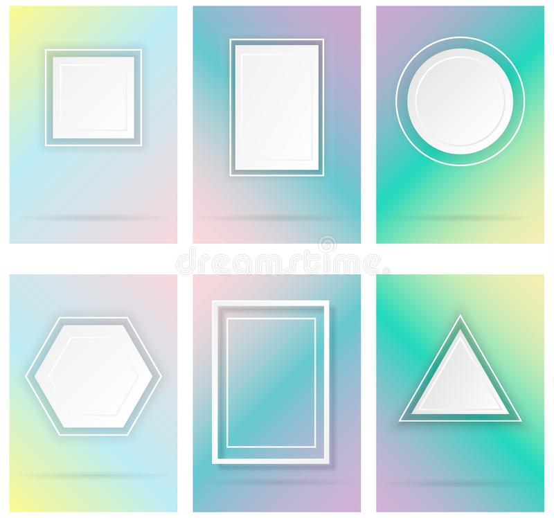 Απλές γεωμετρικές μορφές διανυσματική απεικόνιση