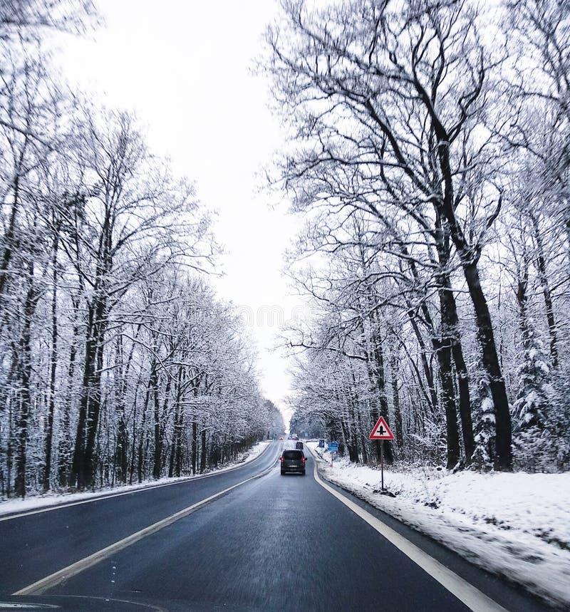 Απλές χιονώδεις διαδρομές ελαστικών αυτοκινήτου - πορτρέτο στοκ φωτογραφίες με δικαίωμα ελεύθερης χρήσης