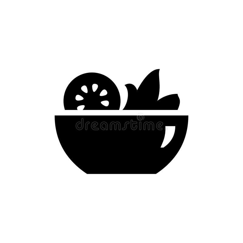 Απλή επίπεδη εικόνα απεικόνισης ύφους εικονιδίων σαλάτας ελεύθερη απεικόνιση δικαιώματος