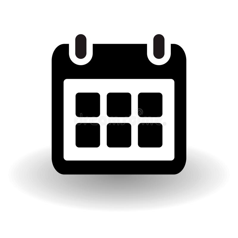 Απλή επίπεδη ημερολογιακή σελίδα, διοργανωτής, διανυσματικό εικονίδιο γραπτό με τη διανυσματική σκιά, έννοια γεγονότος υπενθυμίσε διανυσματική απεικόνιση