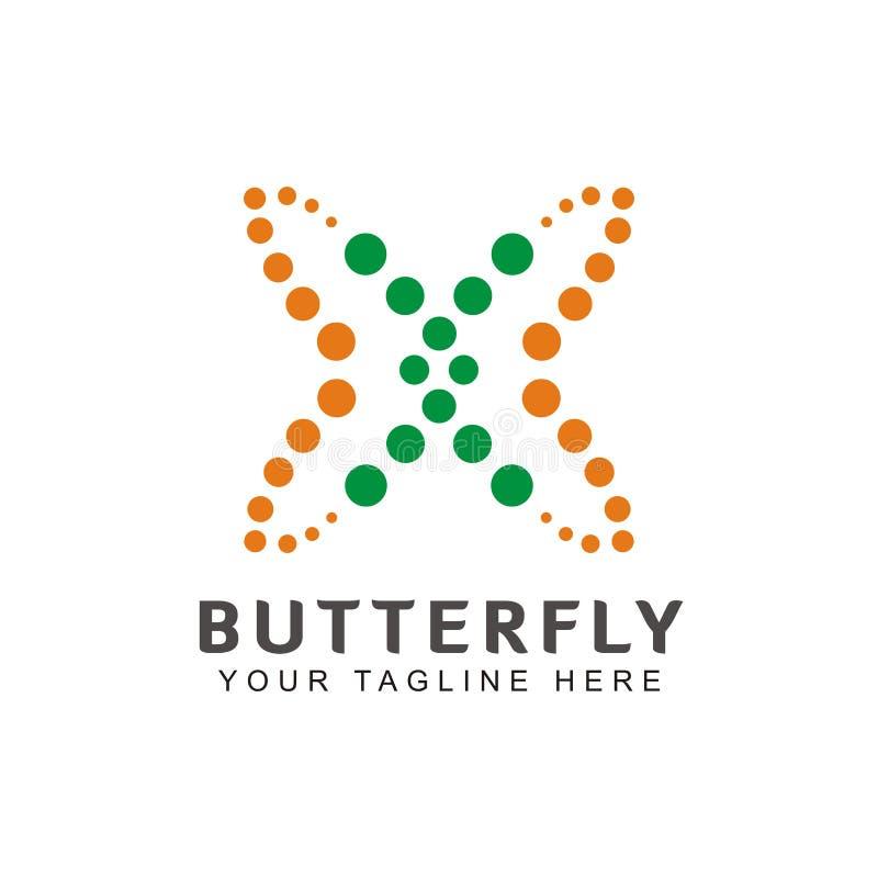 Απλή και μοναδική διαμορφωμένη πεταλούδα έμπνευση λογότυπων ελεύθερη απεικόνιση δικαιώματος