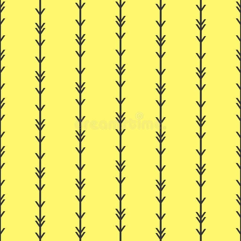 Απλός άνευ ραφής εθνικός βελών λωρίδων σχεδίων διανυσματικός κίτρινος υποβάθρου αφηρημένος αμερικανός ιθαγενής Ινδός ύφους boho τ απεικόνιση αποθεμάτων