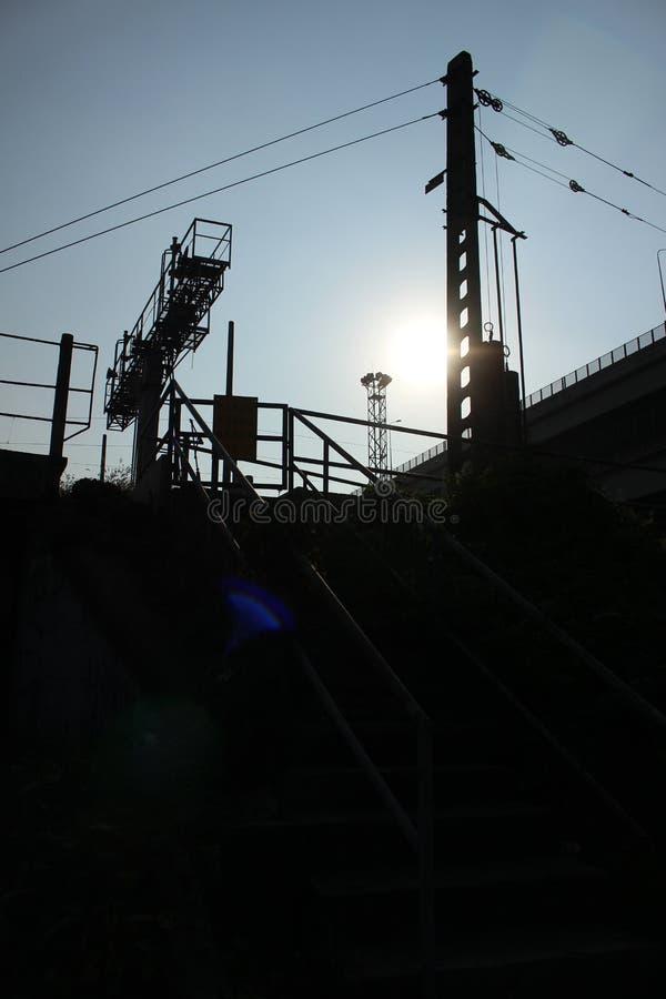 Απλός αστικός σιδηρόδρομος στοκ εικόνα