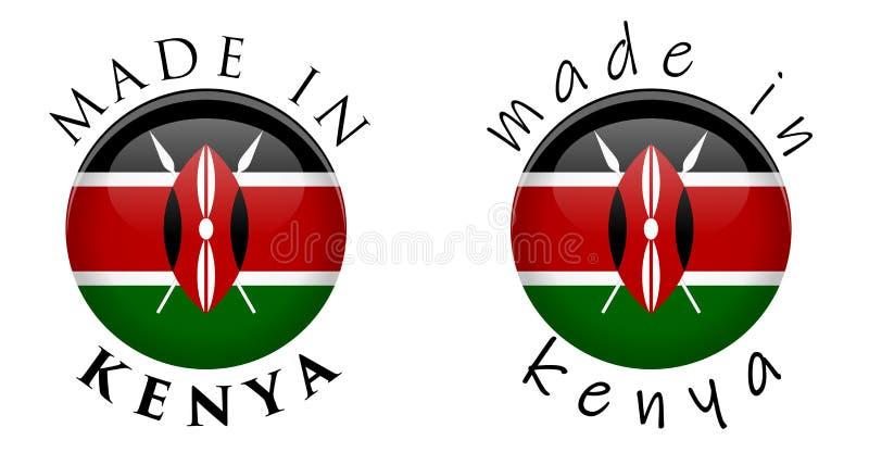 Απλός που γίνεται στο τρισδιάστατο σημάδι κουμπιών της Κένυας Κείμενο γύρω από τον κύκλο με τη γνώση απεικόνιση αποθεμάτων