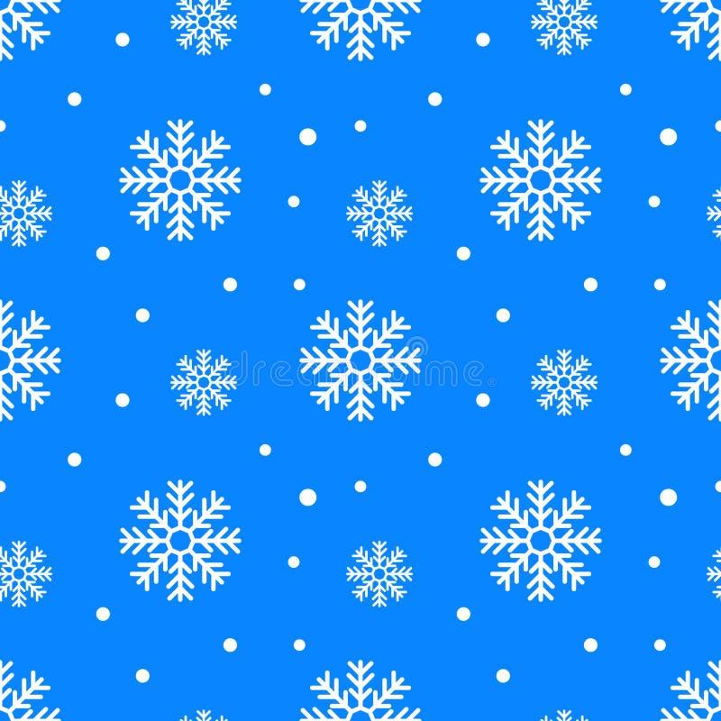 Απλό άνευ ραφής σχέδιο με snowflakes Χειμερινό ατελείωτο υπόβαθρο επίσης corel σύρετε το διάνυσμα απεικόνισης διανυσματική απεικόνιση