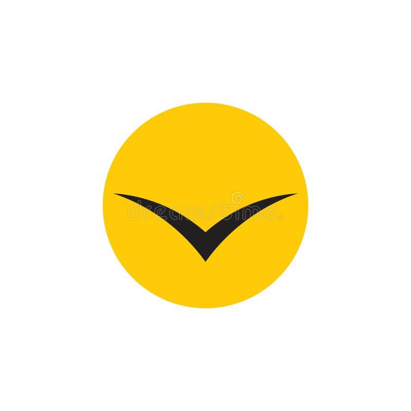 Απλό ήλιων πουλιών διάνυσμα λογότυπων συμβόλων γεωμετρικό απεικόνιση αποθεμάτων