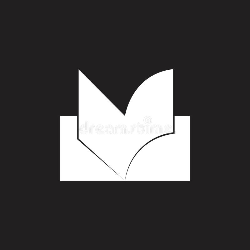 Απλό γεωμετρικό διάνυσμα λογότυπων βιβλίων ζωηρόχρωμο διανυσματική απεικόνιση