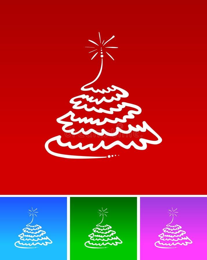 απλό δέντρο Χριστουγέννων ελεύθερη απεικόνιση δικαιώματος