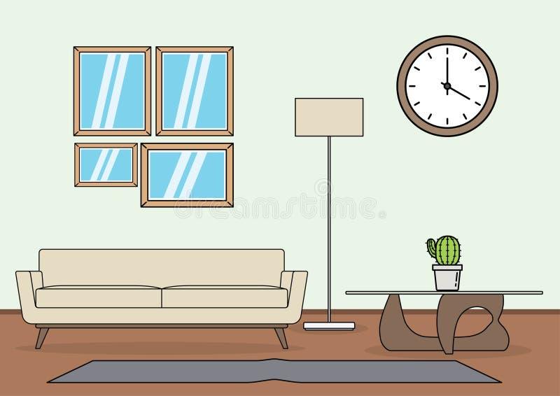 Απλό διάνυσμα καθιστικών διανυσματική απεικόνιση