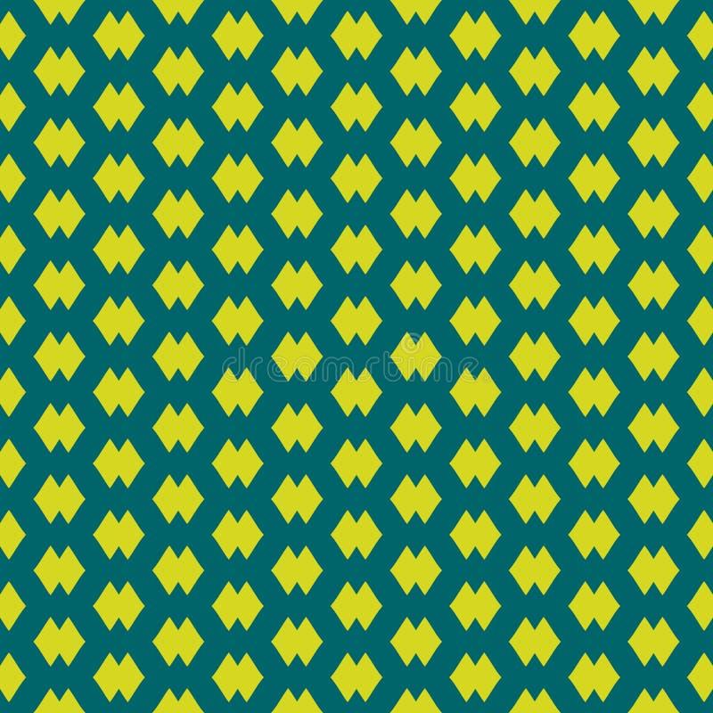 Απλό διανυσματικό αφηρημένο γεωμετρικό άνευ ραφής σχέδιο Σκούρο πράσινο και χρώμα ασβέστη ελεύθερη απεικόνιση δικαιώματος
