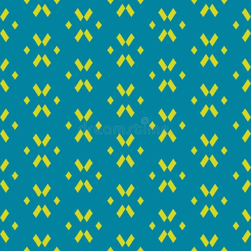 Απλό διανυσματικό αφηρημένο ζωηρόχρωμο γεωμετρικό άνευ ραφής σχέδιο Εθνικό μοτίβο ελεύθερη απεικόνιση δικαιώματος
