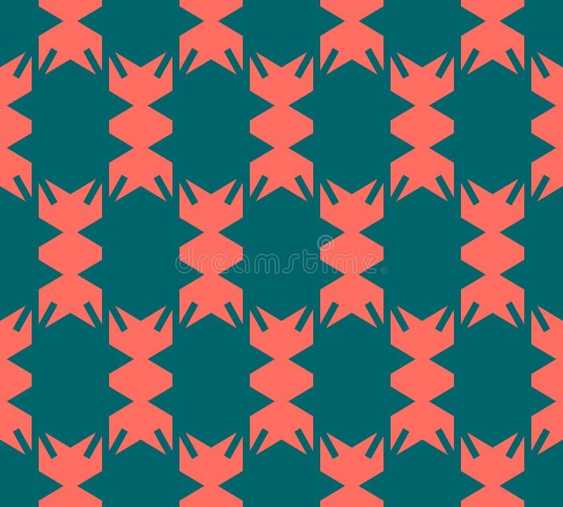Απλό διανυσματικό αφηρημένο ζωηρόχρωμο γεωμετρικό άνευ ραφής σχέδιο στο εθνικό ύφος απεικόνιση αποθεμάτων