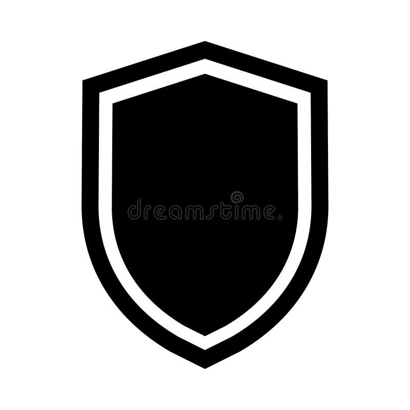Απλό εικονίδιο ασπίδων ασφάλειας απεικόνιση αποθεμάτων