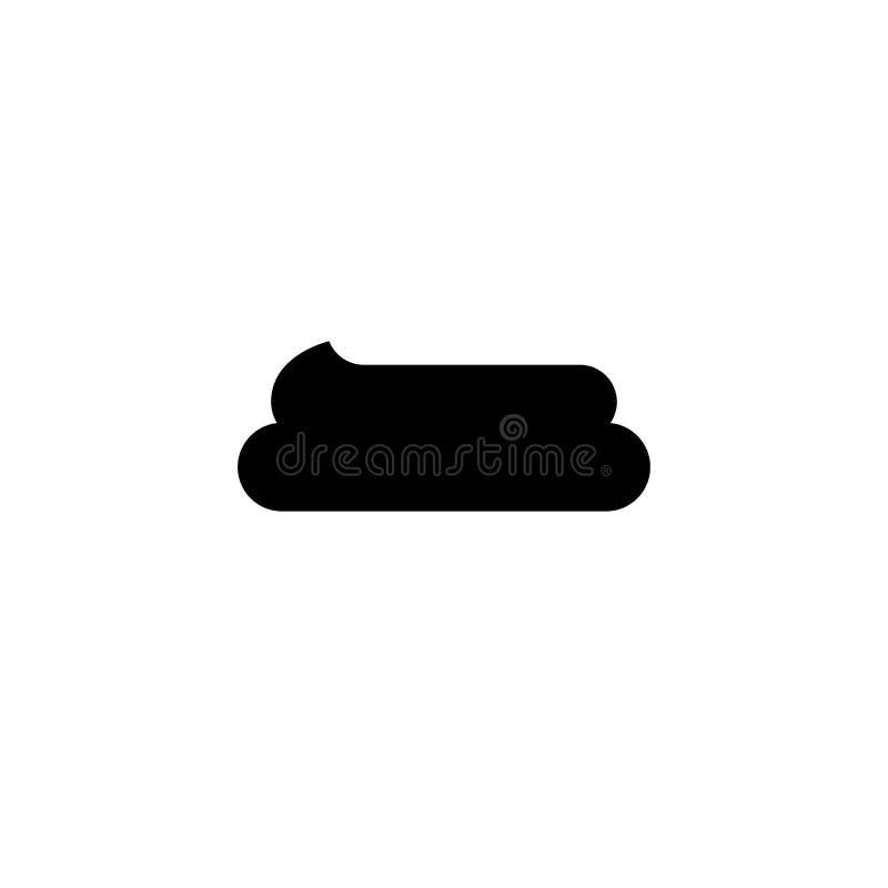 Απλό εικονίδιο περιττωμάτων Μαύρο simbol επίστεγων Σημάδι Fecals απεικόνιση αποθεμάτων