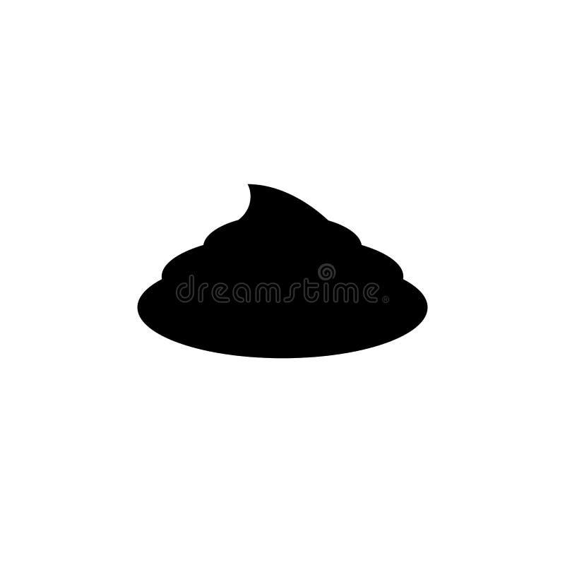Απλό εικονίδιο περιττωμάτων Μαύρο simbol επίστεγων Σημάδι Fecals ελεύθερη απεικόνιση δικαιώματος