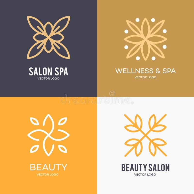 Απλό και χαριτωμένο floral πρότυπο σχεδίου μονογραμμάτων, κομψό σχέδιο λογότυπων lineart, διανυσματική απεικόνιση εικονιδίων Σύγχ στοκ φωτογραφίες με δικαίωμα ελεύθερης χρήσης