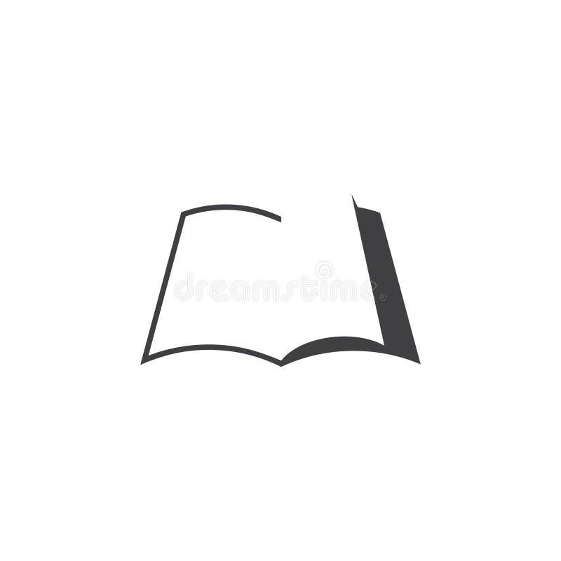 Απλό λογότυπο σχεδίου σκιών σκιαγραφιών βιβλίων απεικόνιση αποθεμάτων