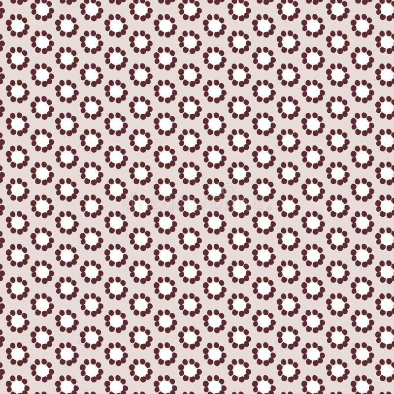 Απλό μπεζ κλασικό floral σχέδιο χρώματος κρητιδογραφιών άνευ ραφής διανυσματική απεικόνιση