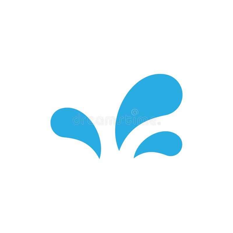 Απλό νερού διάνυσμα λογότυπων παφλασμών μοναδικό ελεύθερη απεικόνιση δικαιώματος