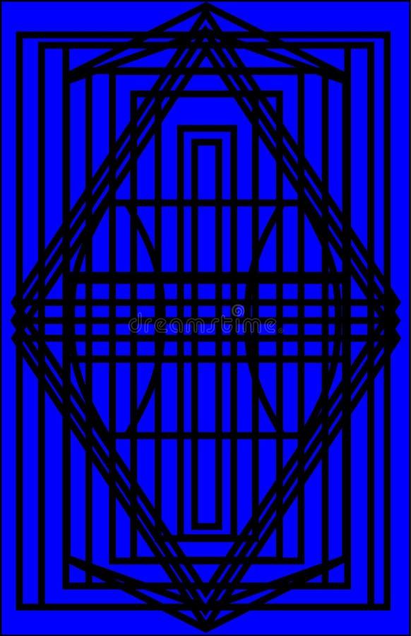 Απλό πυλών υπόβαθρο χρώματος σχεδίων μπλε απεικόνιση αποθεμάτων