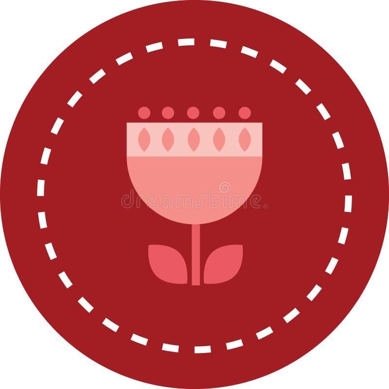 Απλό ρόδινο λουλούδι για το λογότυπο και το μοτίβο στοκ εικόνες