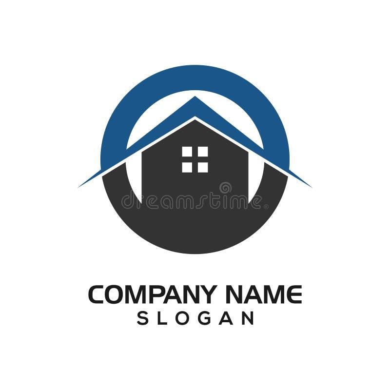 Απλό σπίτι για την ακίνητη περιουσία ή το γραφικό πόρο λογότυπων εικονιδίων κατασκευής ελεύθερη απεικόνιση δικαιώματος