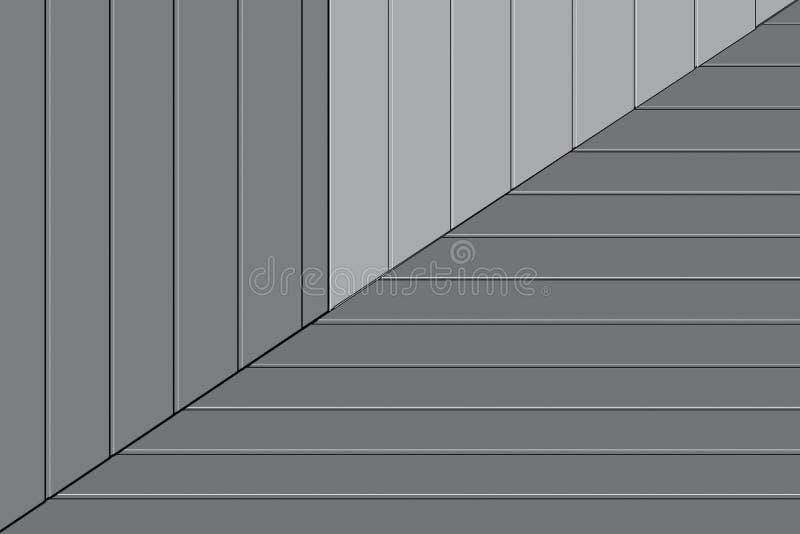 Απλό σχέδιο αρχιτεκτονικής Η έννοια του μινιμαλισμού ελεύθερη απεικόνιση δικαιώματος