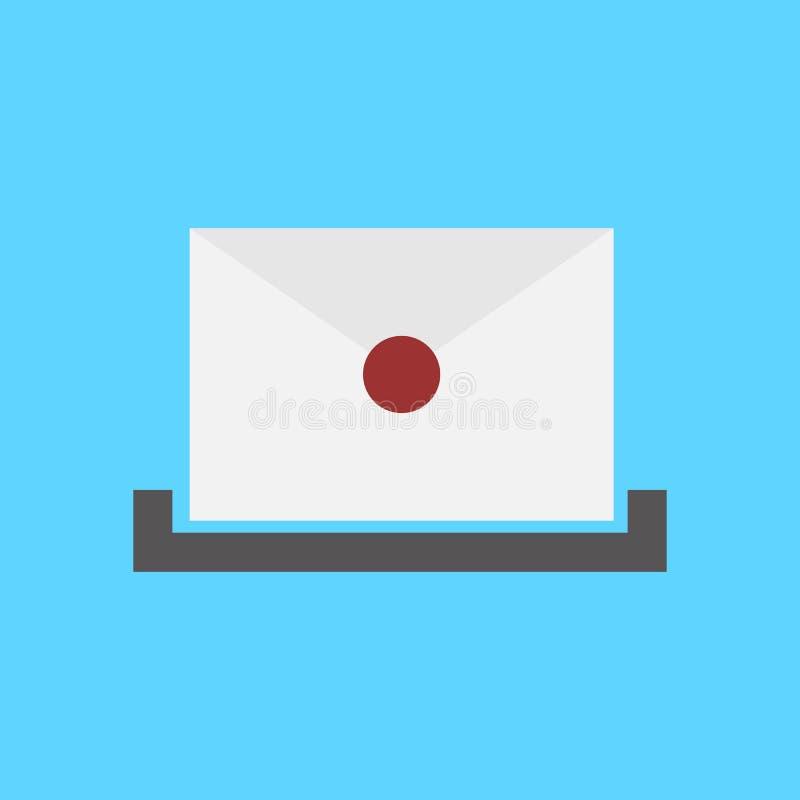 Απλό σύμβολο εικονιδίων ταχυδρομικών θυρίδων ελεύθερη απεικόνιση δικαιώματος