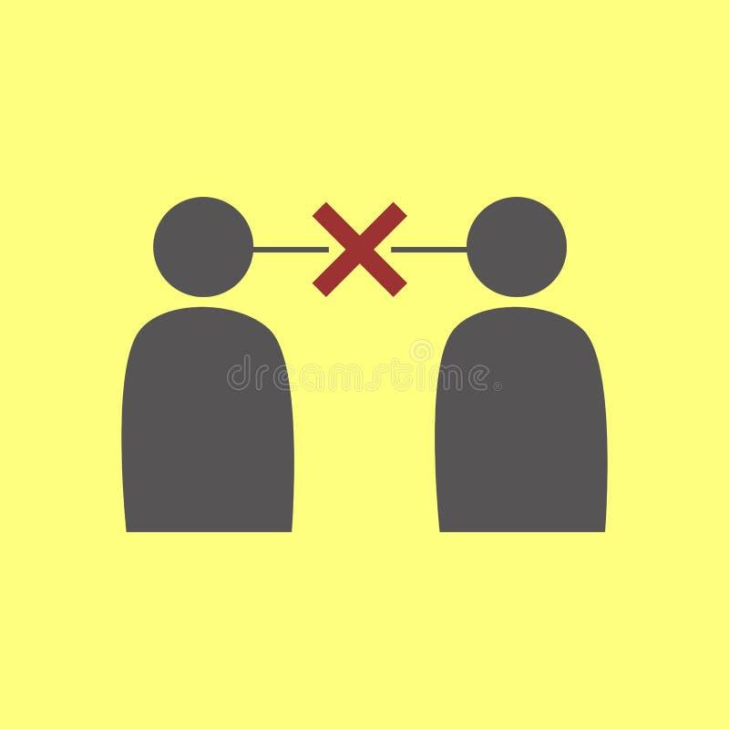 Απλό σύμβολο Miscommunication απεικόνιση αποθεμάτων