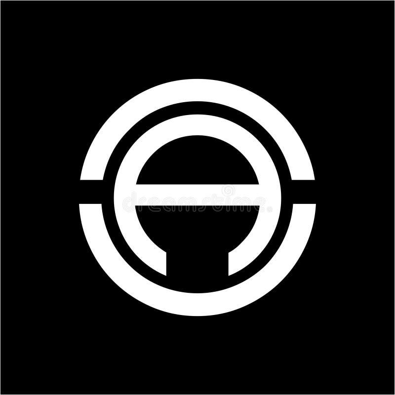 Απλό AO, OA, AUN, γεωμετρικό λογότυπο επιχείρησης αρχικών NAU στοκ εικόνες
