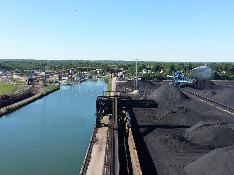 Αποβάθρα άνθρακα του Οχάιου Ashtabula στοκ φωτογραφίες με δικαίωμα ελεύθερης χρήσης