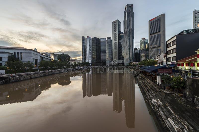 Αποβάθρα βαρκών στη θέση λοταριών, Σιγκαπούρη στοκ φωτογραφία