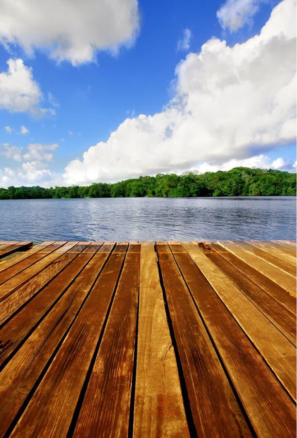 αποβάθρα θαλασσίων περίπατων ξύλινη στοκ εικόνα