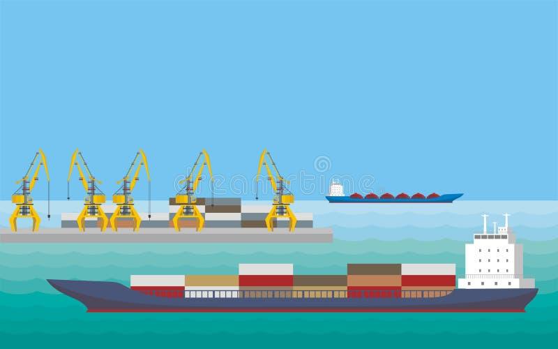 Αποβάθρα και σκάφη ελεύθερη απεικόνιση δικαιώματος