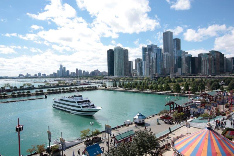 αποβάθρα ναυτικών του Σικάγου στοκ εικόνες με δικαίωμα ελεύθερης χρήσης