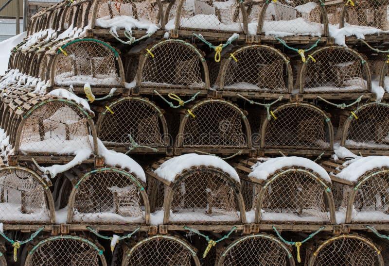 αποβάθρα παγίδων αστακών στοκ φωτογραφίες