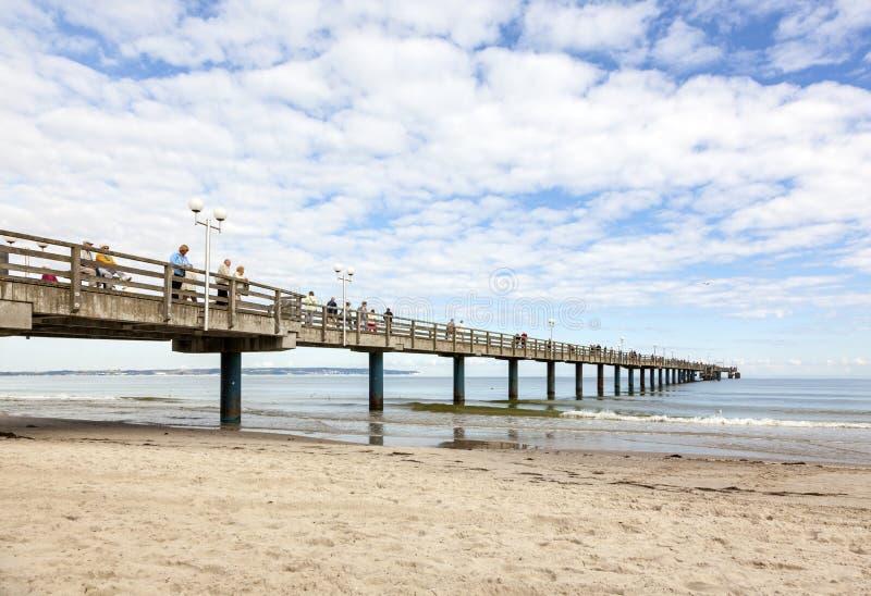 Αποβάθρα στην παραλία Binz, Ruegen στοκ εικόνα με δικαίωμα ελεύθερης χρήσης