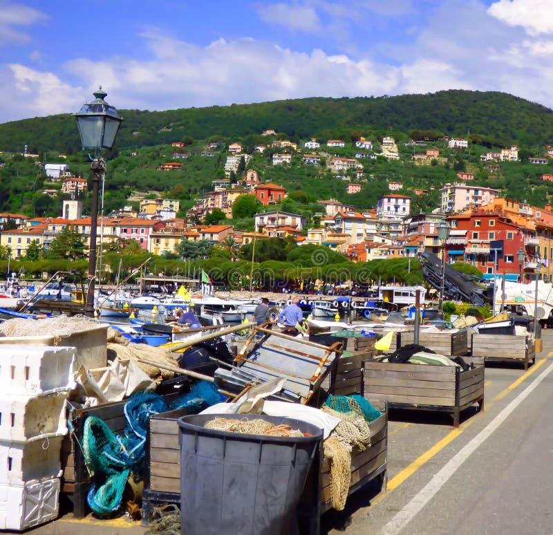 Αποβάθρα στο λιμάνι Lerici Ιταλία στοκ εικόνες με δικαίωμα ελεύθερης χρήσης