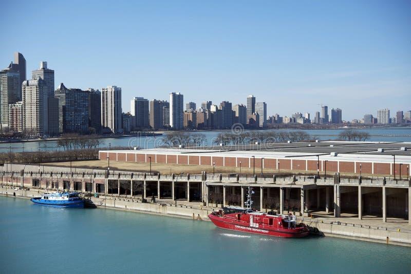 Αποβάθρα του Μίτσιγκαν λιμνών του Σικάγου στοκ φωτογραφία με δικαίωμα ελεύθερης χρήσης